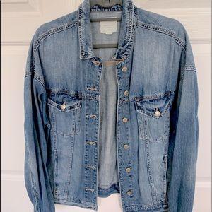 American eagle oversized jean jacket. Size large